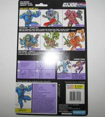 1994 GI Joe Effects Card Back