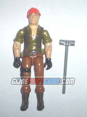 GI Joe Tollbooth Bridgelayer driver figure 1985
